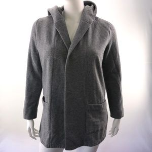 LOFT Large Gray Long Sleeve Hoodie Cadigan